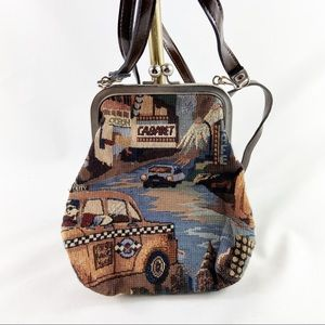 Vintage tapestry Cabrelli mini backpack